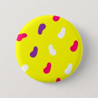 Yellow Pattern Standard, 2¼ Inch Round Button
