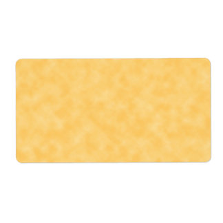 Yellow Patterned Background. Shipping Label