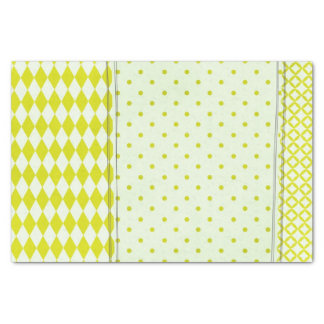 Yellow Patterned Tissue Paper