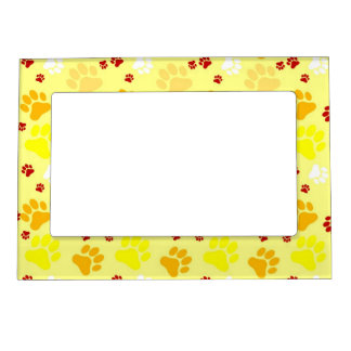 Yellow Paw Print Magnetic Frame