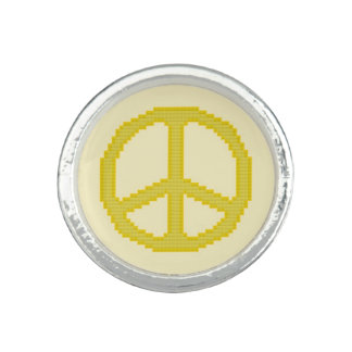 Yellow Peace Sign