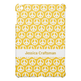 Yellow peace sign Design  iPad Mini Case