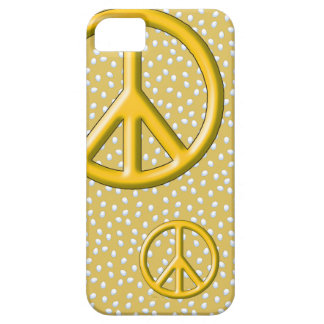 Yellow peace sign iPhone 5 Barely There case iPhone 5 Covers