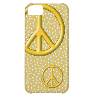 Yellow peace sign iPhone 5 Barely There case iPhone 5C Case