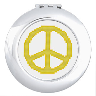 Yellow Peace Sign Mirrors For Makeup