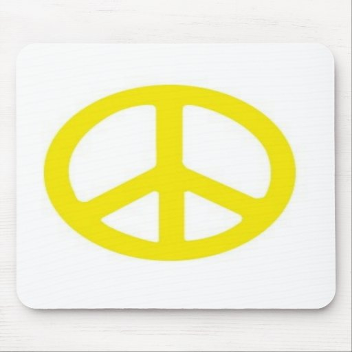 YELLOW PEACE SIGN :-) MOUSE MATS