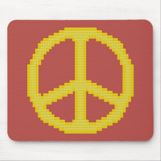 Yellow Peace Sign Mousepad
