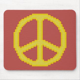 Yellow Peace Sign Mousepad