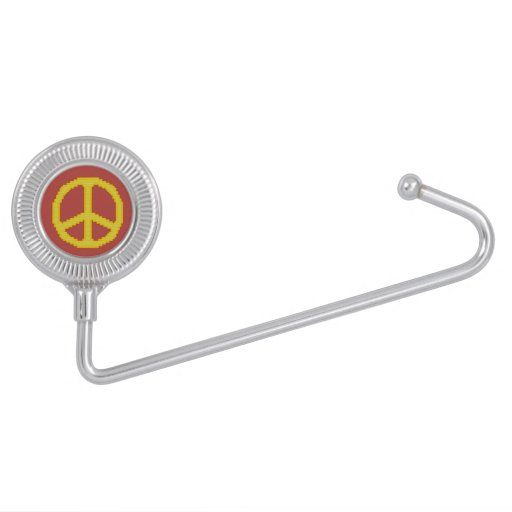Yellow Peace Sign Purse Hooks
