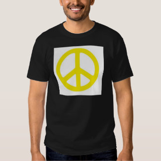 YELLOW PEACE SIGN :-) T SHIRT