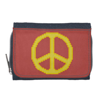 Yellow Peace Sign Wallets