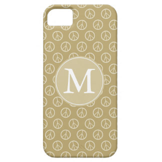 Yellow Peace Signs Monogram iPhone 5 Covers