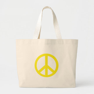 Yellow Peace Symbol Products Canvas Bag