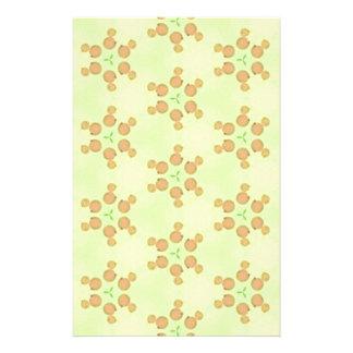 Yellow Peach Customizable Background Pattern Personalized Stationery
