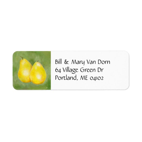 Yellow Pears address label