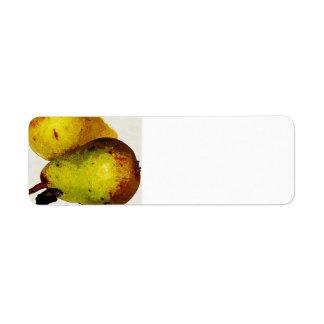 Yellow Pears Avery Label Return Address Label