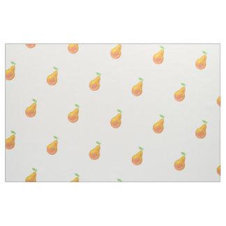 Yellow pears fabric