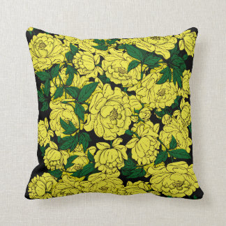 Yellow Peonies Cushion