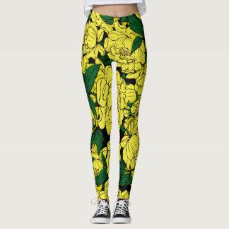 Yellow Peonies Leggings