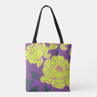 Yellow Peonies Tote Bag