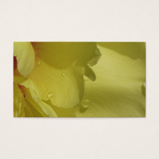 Yellow peony business card