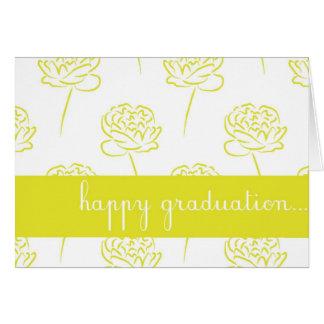 Yellow Peony Customizable Happy Graduation Card
