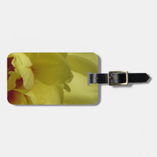 Yellow Peony luggage tag