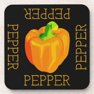 Yellow Pepper Square Coaster