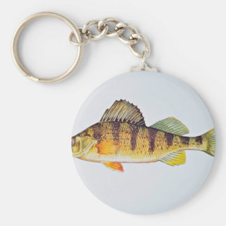 Yellow perch keychain