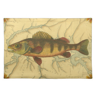 Yellow Perch on Map Placemat