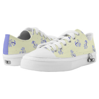 Yellow Periwinkle Cobalt Floral shoes