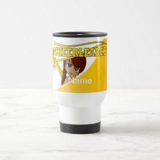 Yellow Personalize Cheerleader Mugs