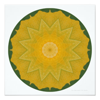 Yellow Petal Mandala Invite by Zen Moments