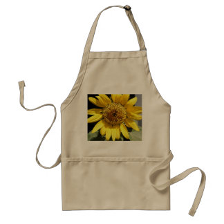 Yellow petals of a large sunflower standard apron