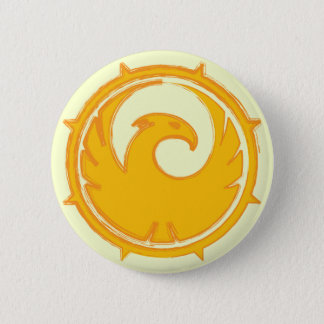Yellow phoenix bird emblem badge