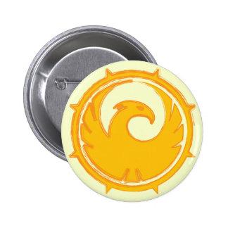 Yellow phoenix bird emblem badge