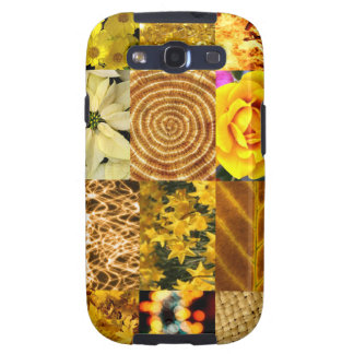 Yellow photo collage samsung galaxy SIII cover
