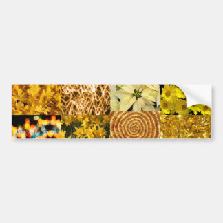 Yellow photography collage bumper sticker