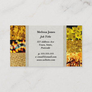 Photo collage business cards zazzle uk yellow photography collage business card colourmoves