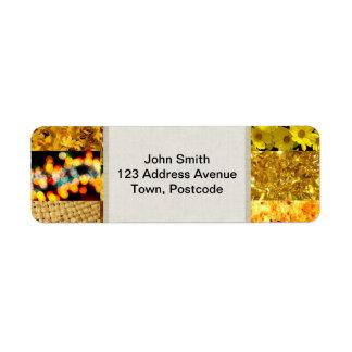 Yellow photography collage return address label