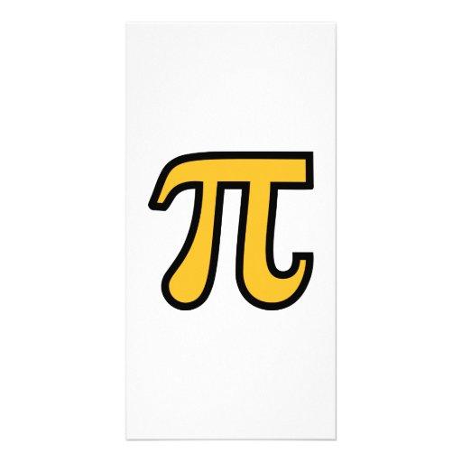 Yellow Pi symbol Customized Photo Card