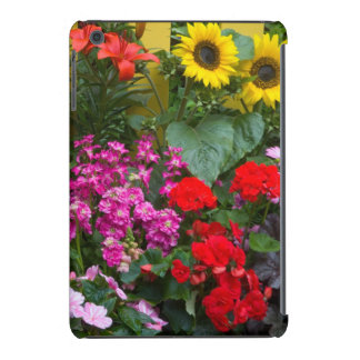 Yellow picket fence with flower garden in iPad mini retina cover