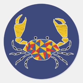 Yellow Pinching Crab Sticker