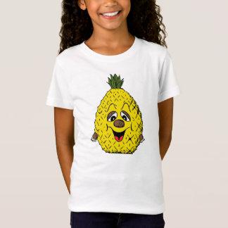 Yellow Pineapple Cartoon Tired Smiling T-Shirt
