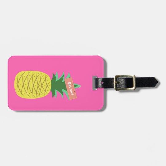 Yellow pineapple luggage tag