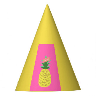 Yellow pineapple party hat