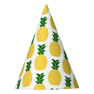 Yellow Pineapple Pattern Party Hat