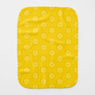 Yellow Pineapple Slices Pattern Burp Cloth
