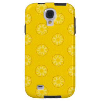 Yellow Pineapple Slices Pattern Galaxy S4 Case