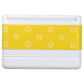 Yellow Pineapple Slices Pattern Igloo Cool Box